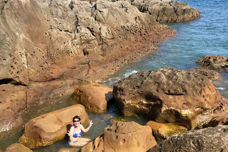 式根島 地鉈温泉