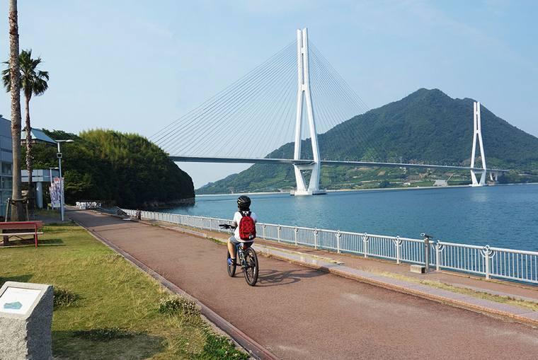 しまなみ海道でのサイクリング
