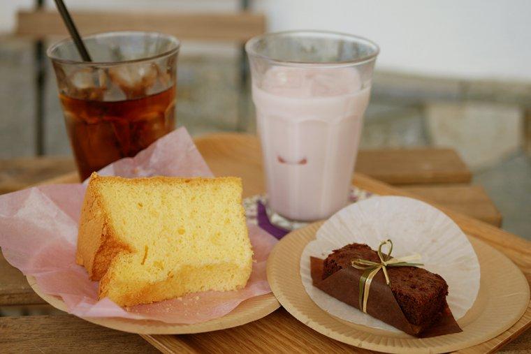 ケーキショップ「ストローベイル」のシフォンケーキ