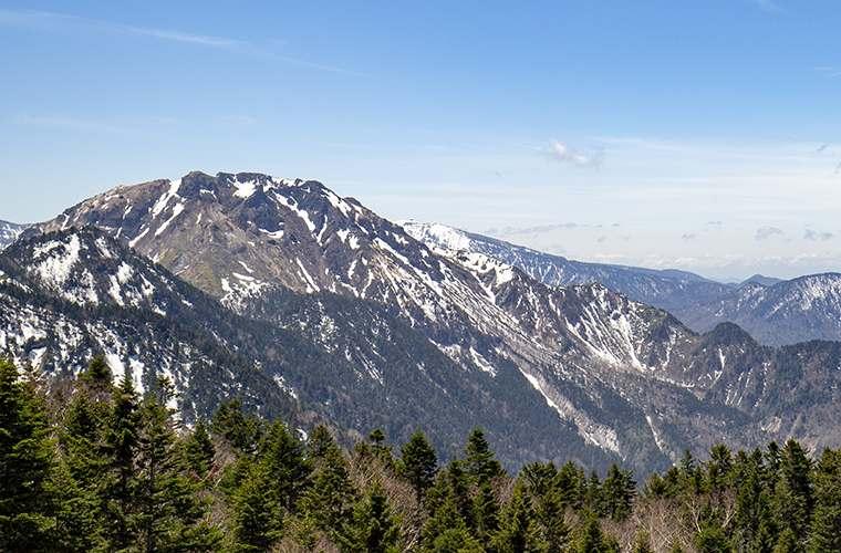 展望台から見える焼岳