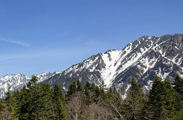 展望台から見える穂高連峰
