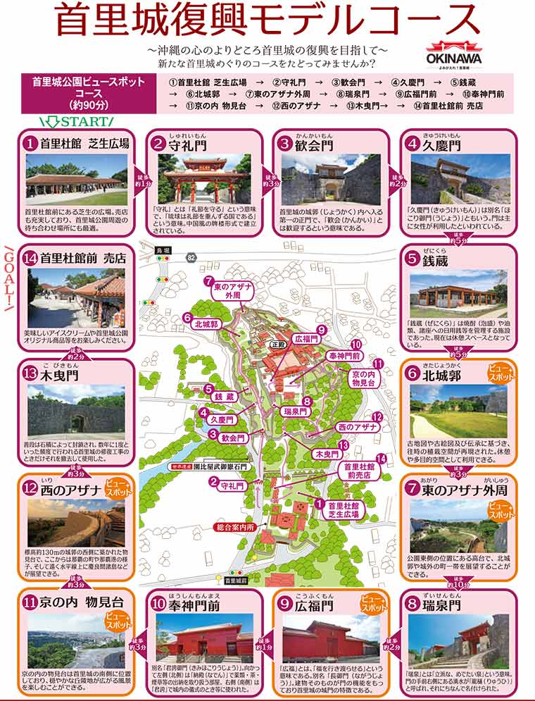 首里城公園ビュースポット(90分コース)