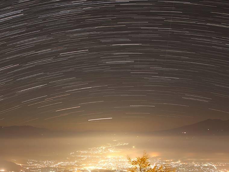 星空観測を楽しむ温泉旅 高峰高原ホテル  佐久市の夜景