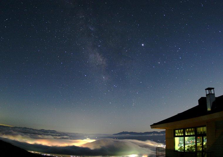 星空観測を楽しむ温泉旅 高峰高原ホテル 夜景