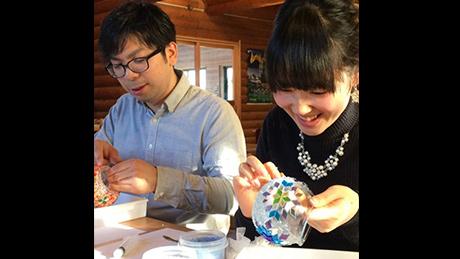 トルコのガラスモザイクでキャンドルホルダーを作ろう