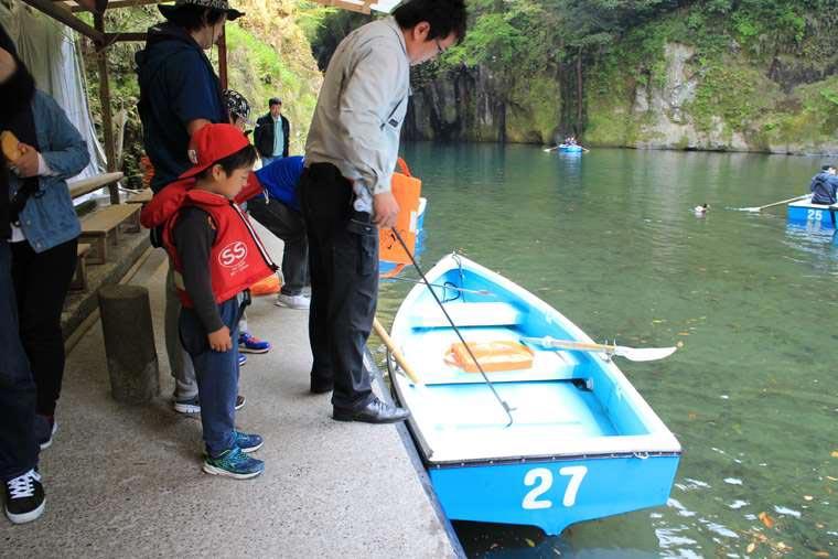 天然記念物「高千穂峡」貸ボート