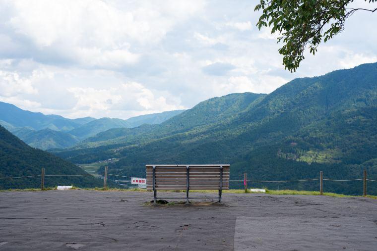 竹田城 映画『あなたへ』「健さんのベンチ」