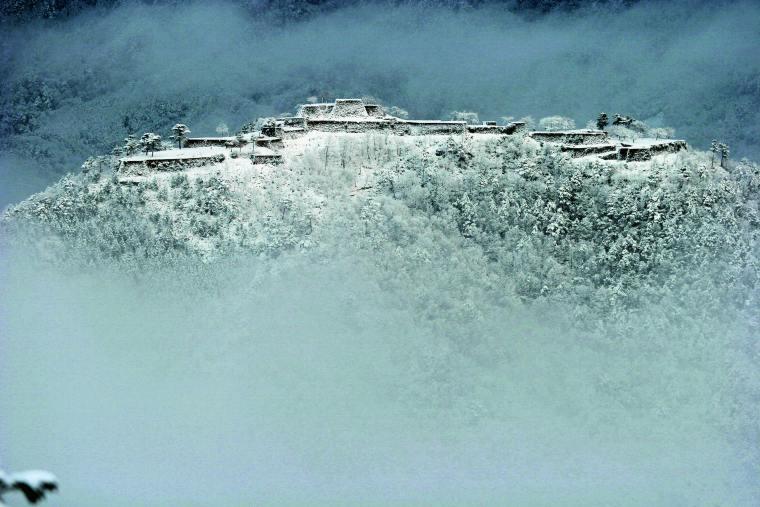竹田城 雲海 雪景色