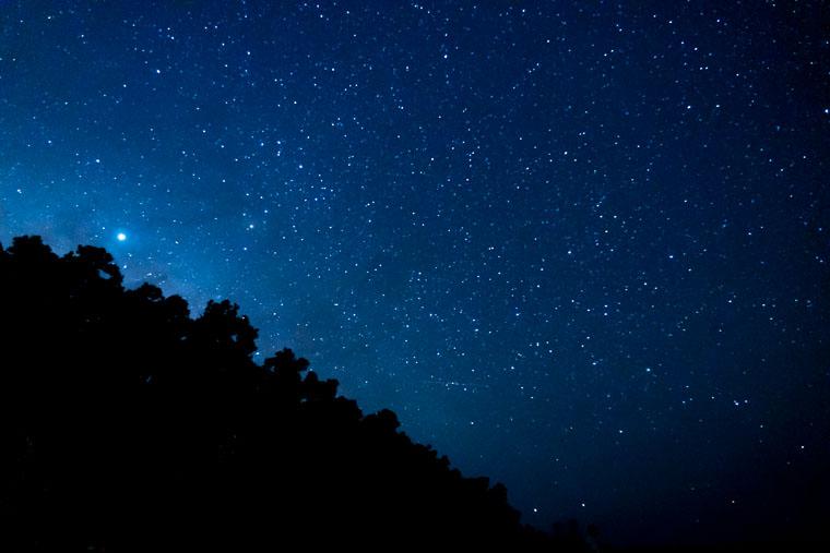 星空保護区である竹富島の星空