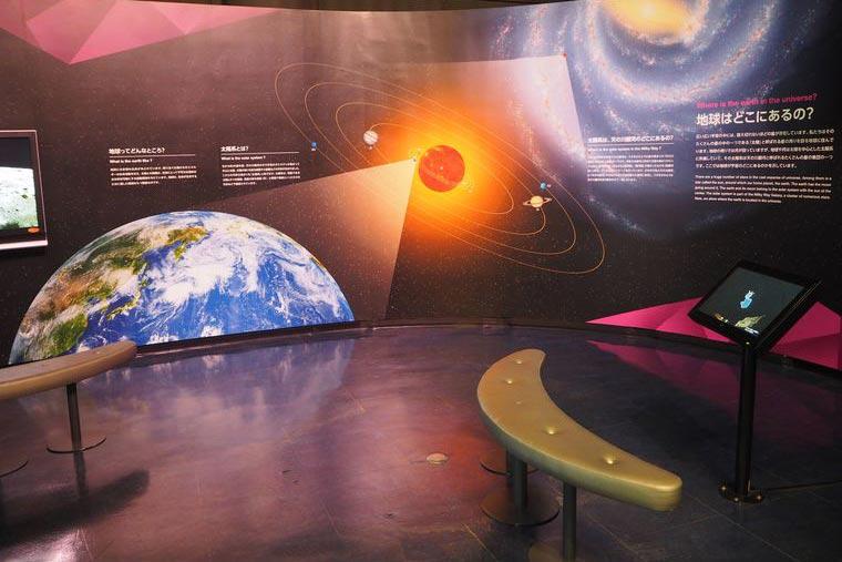 宇宙について学べるゾーン