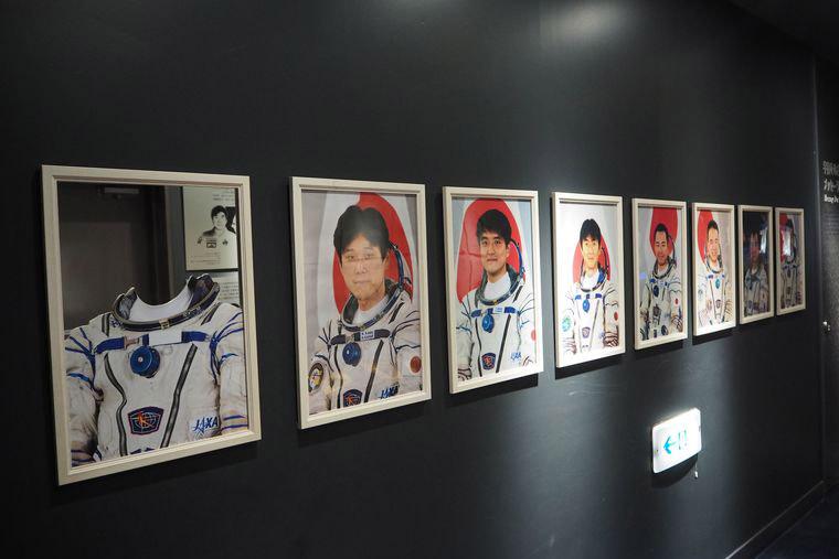歴代の日本人宇宙飛行士の写真