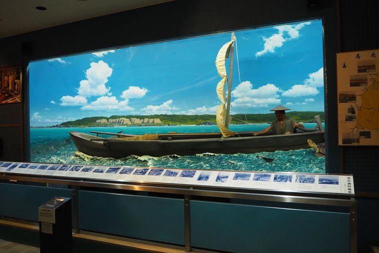 丸木舟の模型