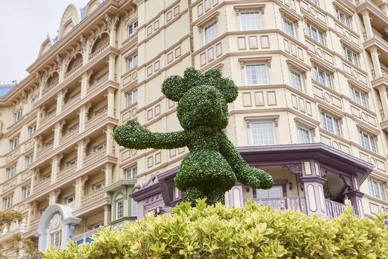 東京ディズニーランドホテル 女子旅 ディズニーキャラクター トピアリー