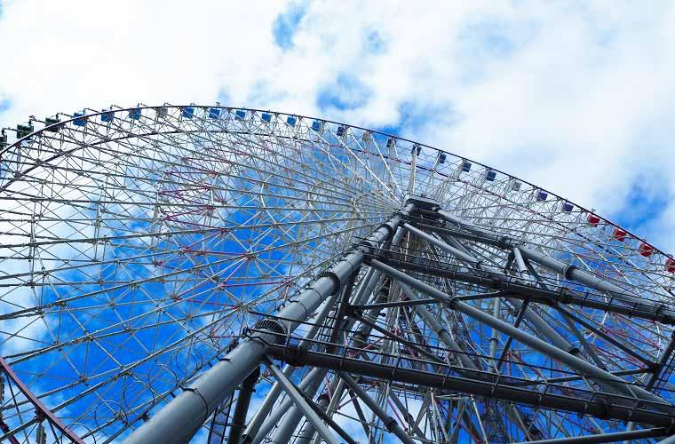 天保山のシンボルタワーでもある「天保山大観覧車」