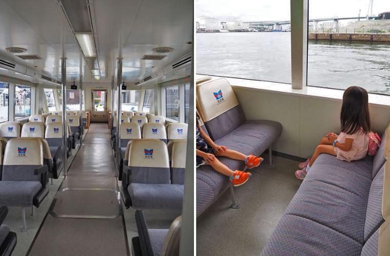 キャプテン・シルバー号の1階はゆったりできるイス席