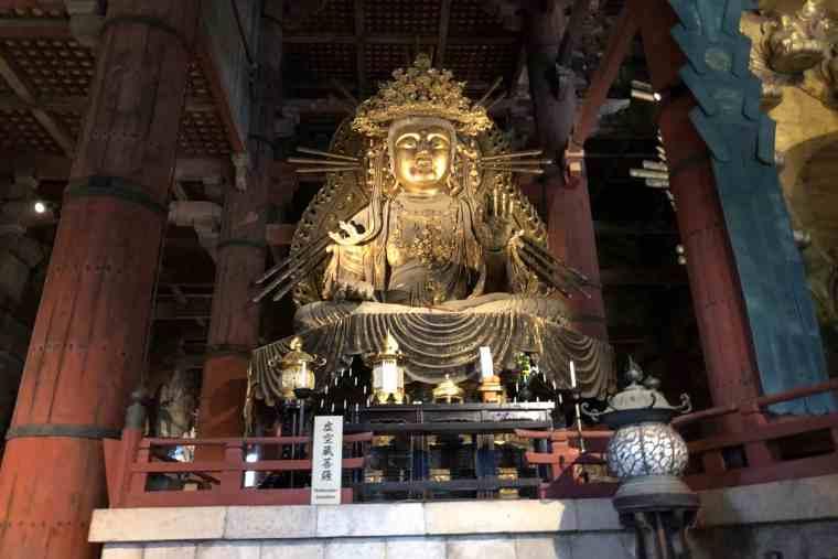東大寺 大仏殿の虚空蔵菩薩坐像