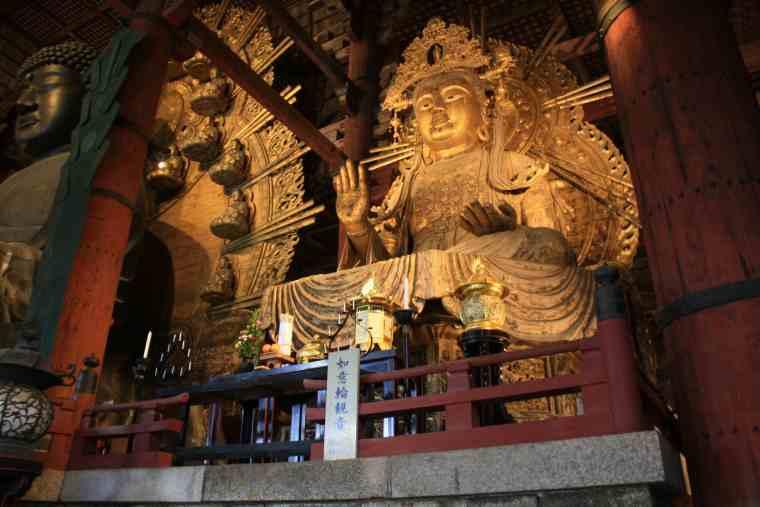 東大寺 大仏殿の如意輪観音坐像