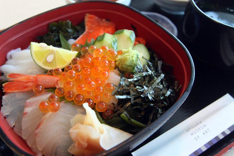 レストラン ガーデンの「うずしお海鮮丼」1,200円