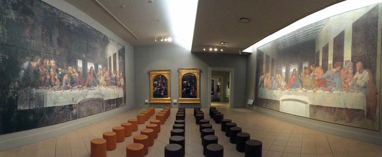レオナルド・ダ・ヴィンチの『最後の晩餐』修復前と後