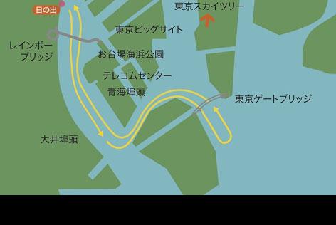 御座船のルート