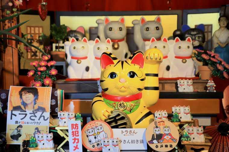 今戸神社 黄色の招き猫