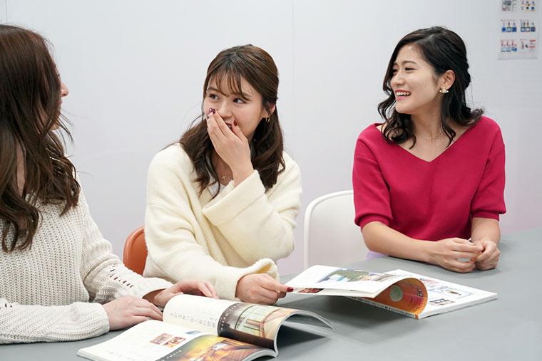国内座談会、左から 竹内彩花さん、井口綾子さん、大野南香さん