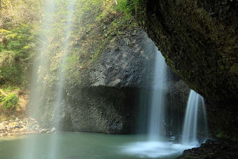 茨城県 月待の滝 親子滝