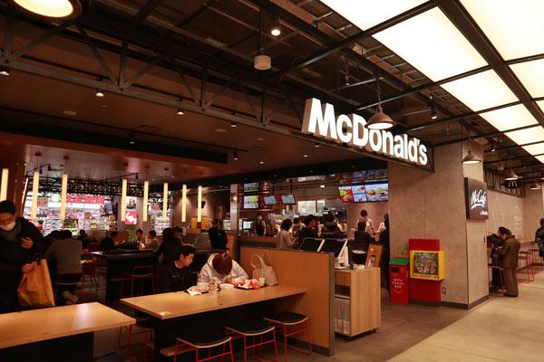 「LINKS UMEDA」内の「マクドナルド」
