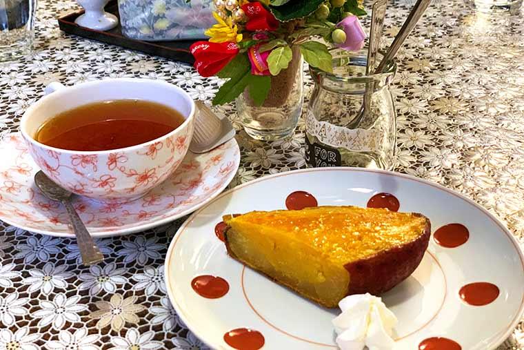 嬉野紅茶とスイートポテト