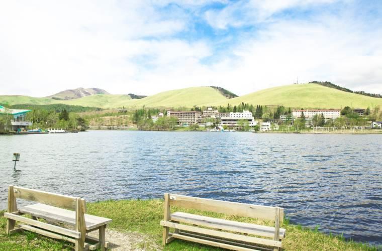 白樺湖湖畔