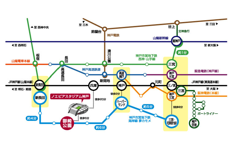 ノエスタへの路線図