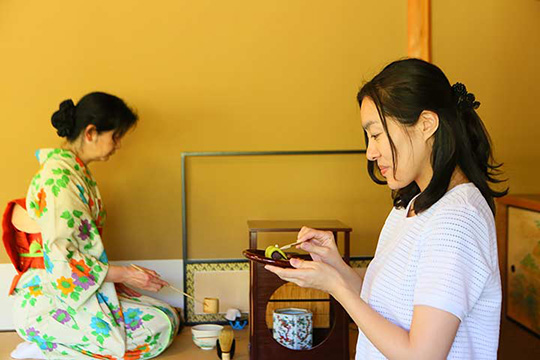 茶室・双樹庵での茶席のひとときも忘れられない旅の思い出