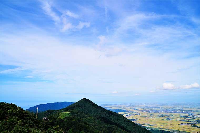 弥彦山頂から見た越後平野