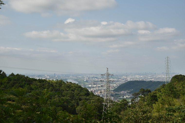 天王山 山頂の山崎城跡からの眺望
