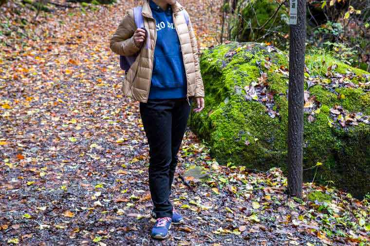 横谷渓谷 紅葉シーズンの服装