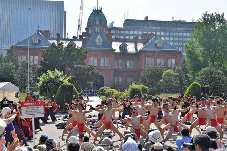 YOSAKOIソーラン祭り 道庁赤レンガ会場