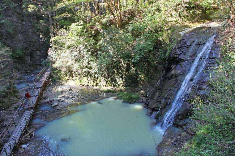 千葉養老渓谷「幻の滝」「小沢又(こざわまた)の滝」