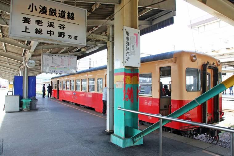 千葉 小湊鉄道のトロッコ列車