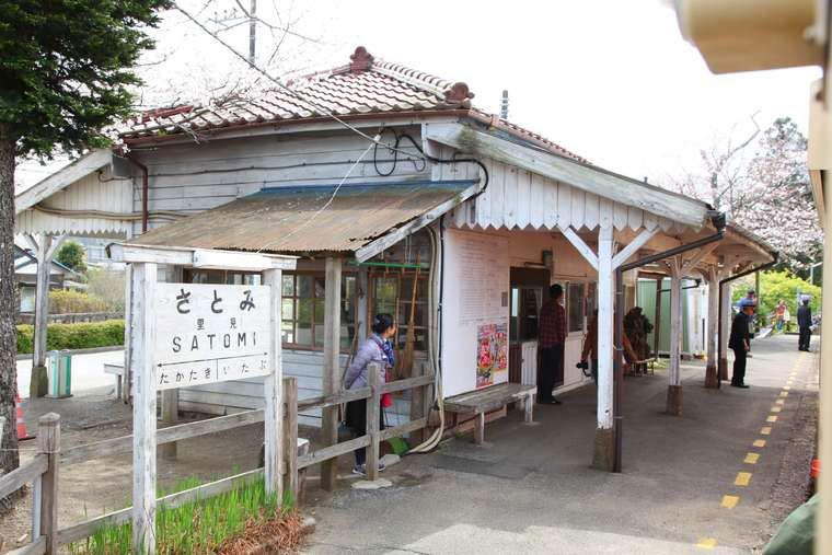千葉 小湊鉄道のトロッコ列車  里見