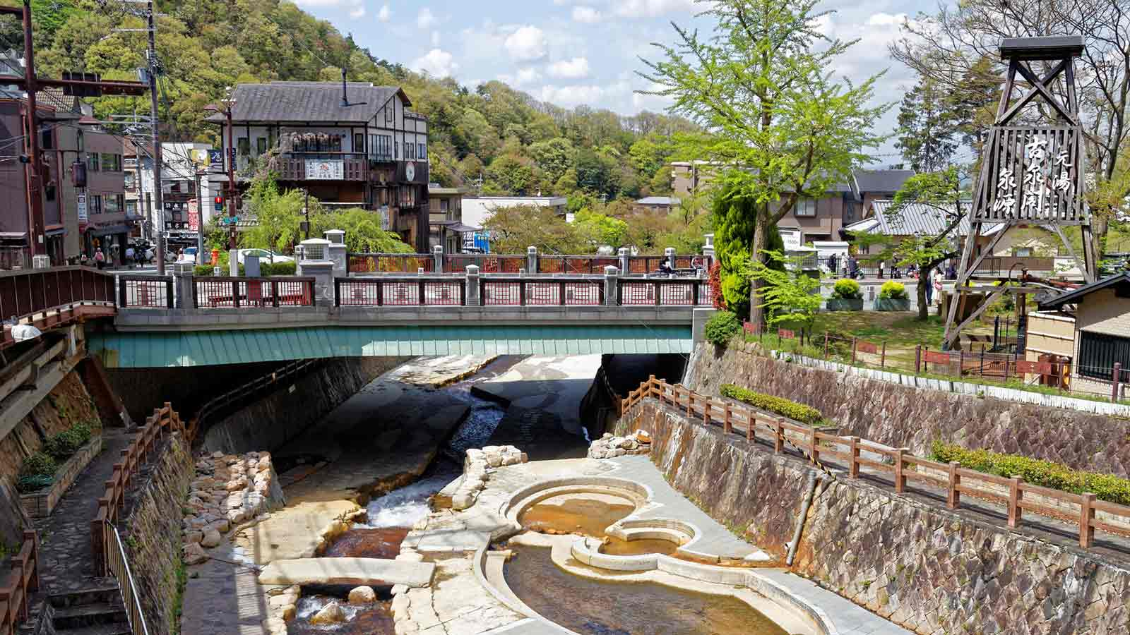 Arima Onsen's hot spring district