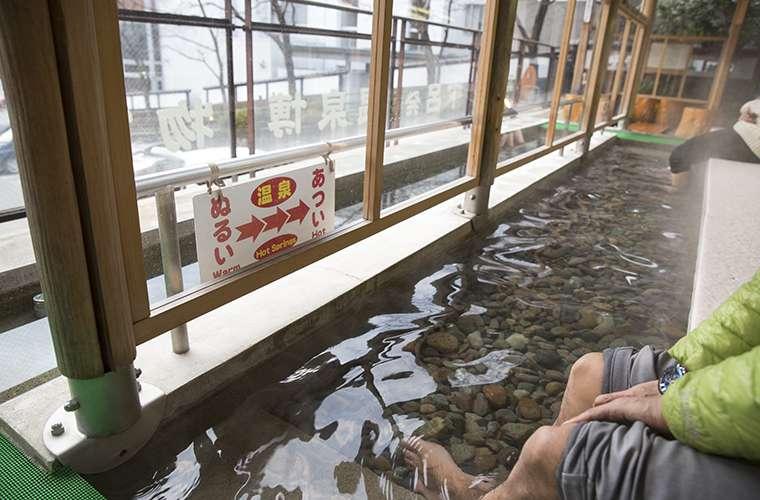 下呂発 温泉博物館の足湯