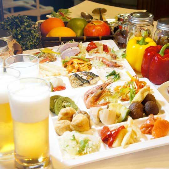 熱海ホテルパイプのけむり 夕食例(バイキング)