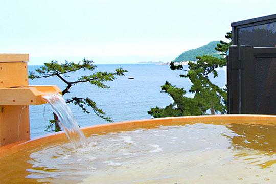 熱海温泉 味と湯の宿 ニューとみよし 展望貸切露天風呂
