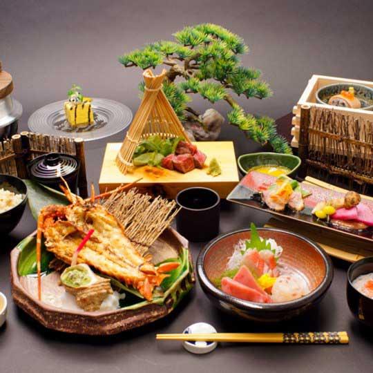 絶景掛け流しの宿 熱海月右衛門 夕食例