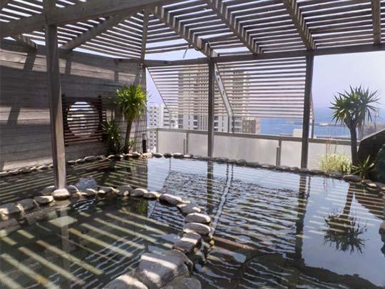 熱海温泉 熱海ニューフジヤホテル 展望露天風呂 初島