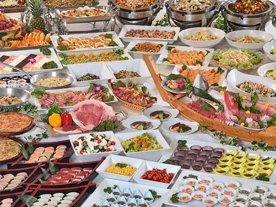 熱海温泉 熱海ニューフジヤホテル 夕食バイキング例