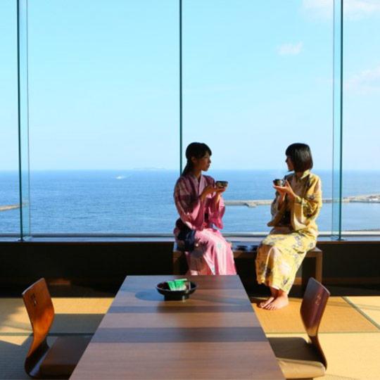 大江戸温泉物語 熱海温泉 あたみ オーシャンビュー客室例(和室12.5畳)