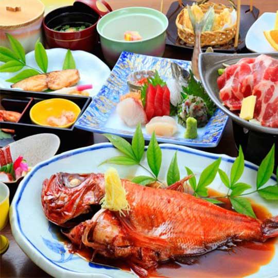 熱海温泉 源泉の宿ホテル松風苑 金目鯛の姿煮(イメージ)