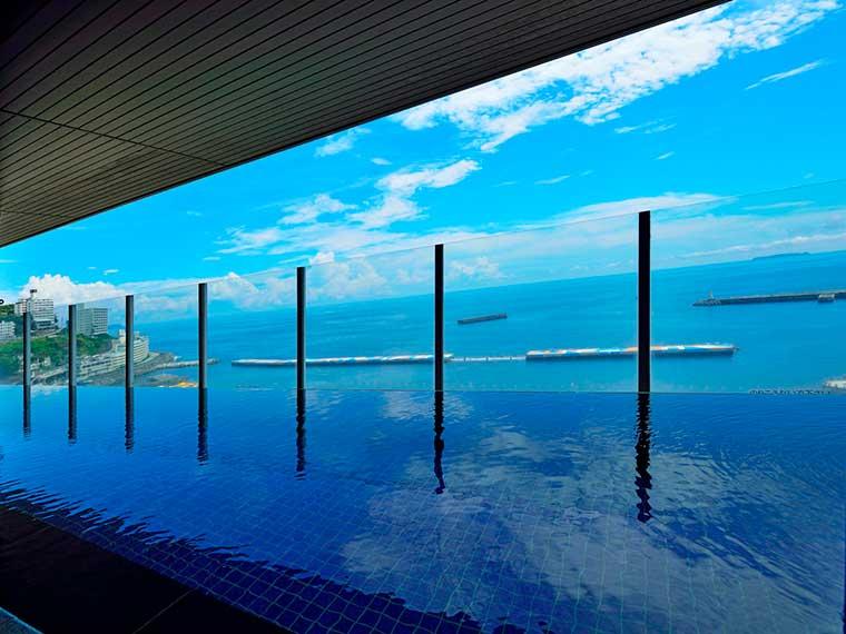 熱海温泉 HOTEL MICURAS(ホテルミクラス) オーシャンビューの温泉大浴場