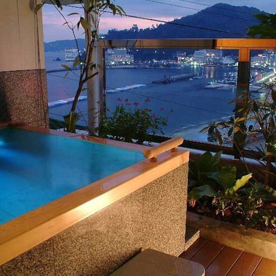 熱海温泉 月の栖 熱海聚楽ホテル 客室露天風呂